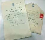 Letter from Winston Churchill to Nathaniel 1st Lord Rothschild: January 1915