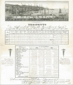 Trade report for goods imported and exported from Italy: 1827 and 1828